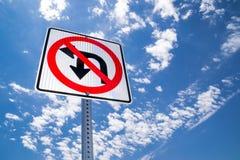 No U-Turn. Royalty Free Stock Image