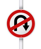 No u turn. Royalty Free Stock Image