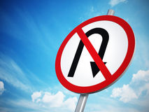 No U-Turn sign Stock Photography