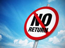 No U-Turn sign. Against the blue sky Royalty Free Stock Photography