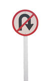No U-turn sign allowed Stock Image