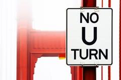 No U Turn Sign Stock Photography