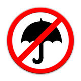 No umbrella sign isolated Royalty Free Stock Photos