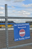 No unauthorised personnel sign. Stock Image