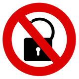 No unlock Royalty Free Stock Photos