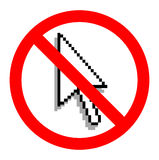 No Use Laptop, Sign Royalty Free Stock Image