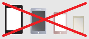 No Use Smart phone sign Stock Images
