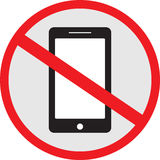 No Use Smart phone sign Stock Image