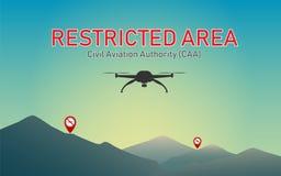 No utilice los abejones para volar en áreas restrictas stock de ilustración