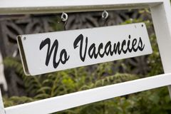 No Vacancies Sign Stock Photos