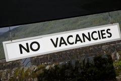 No Vacancies Sign Royalty Free Stock Images