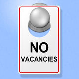 No Vacancies Sign Shows Single Room And Accommodation Royalty Free Stock Photo