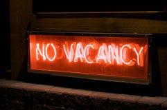 No Vacancy. A hotel no vacancy sign stock image