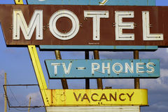 No Vacancy. Motel, motels, hotel, hotels, rooms, room, vacancy, no, tv, phones, phone, rent, stay, overnight, travel, sleep, rest, out, of, town, visiting, visit stock photos