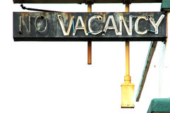No Vacancy and White royalty free stock photos