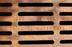 No vacie ninguna basura Fotografía de archivo