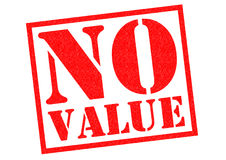 NO VALUE. Red Rubber Stamp over a white background Royalty Free Stock Image