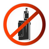 No vaping symbol Royalty Free Stock Image