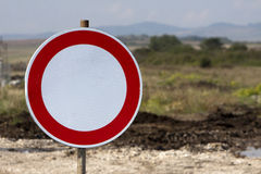 No Vechicles Traffic Sign Royalty Free Stock Image