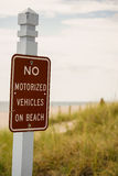 No vehicles on beach Royalty Free Stock Photography