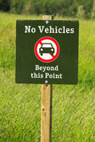 No vehicles beyond this point sign Royalty Free Stock Image