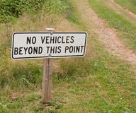 No Vehicles Sign Royalty Free Stock Photo