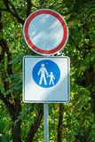 No vehicles traffic and rest zone Royalty Free Stock Photo