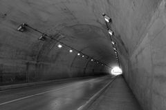 No vehicular tunnel Stock Photo