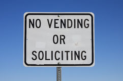 No Vending Or Soliciting Sign Royalty Free Stock Images