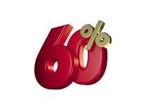 60% no vermelho e no ouro Fotos de Stock
