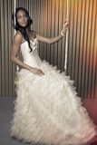 No vestido de casamento fotografia de stock royalty free