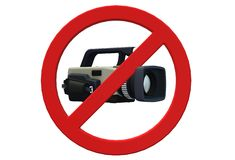 No video recording allowed restriction signage royalty free illustration
