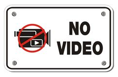 No video rectangle sign Stock Photography