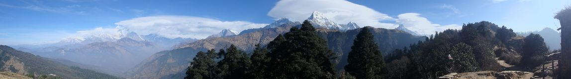 Himalayas for beginners: A wider perspective. No view can be compared to majesty of over 8000 metres tall mountains Stock Image
