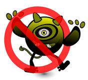 No Virus Cartoon Illustration Stock Photos