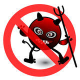 No Virus Cartoon Illustration Royalty Free Stock Photography