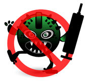 No Virus Cartoon Illustration Stock Photo