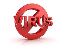 No Virus Symbol Stock Photography