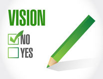 no vision sign concept illustration Royalty Free Stock Photography