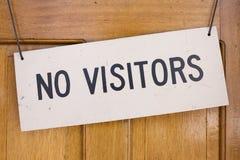 No vistors sign Royalty Free Stock Photos