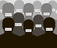 No Voice People Silhouette Stock Images