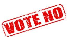 No vote ningún texto rojo del sello Fotos de archivo libres de regalías