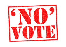 NO VOTE. Red Rubber Stamp over a white background Stock Photo