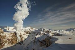 No vulcão Gorely fotos de stock royalty free