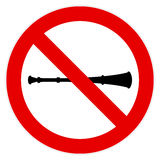 No vuvuzela sign Stock Images