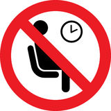 No waiting room sign Royalty Free Stock Images
