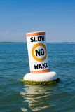 No Wake Buoy Royalty Free Stock Photo