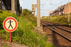 No walk. From here you can not walk further Royalty Free Stock Photography