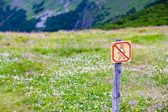 No walking sign Stock Image