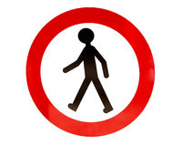 No walking sign Royalty Free Stock Photo